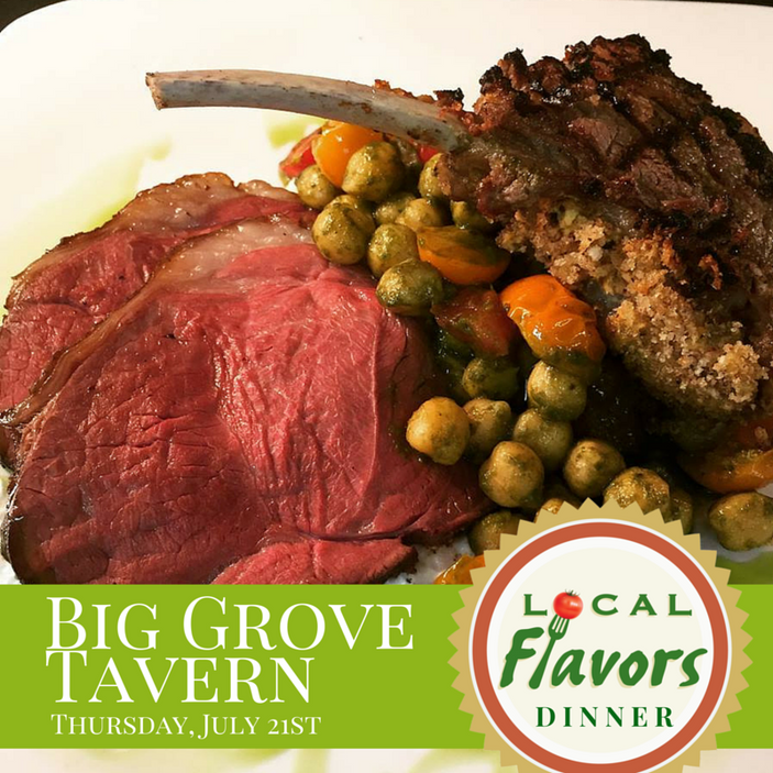 Local Flavors at Big Grove Tavern in Champaign, July 21st