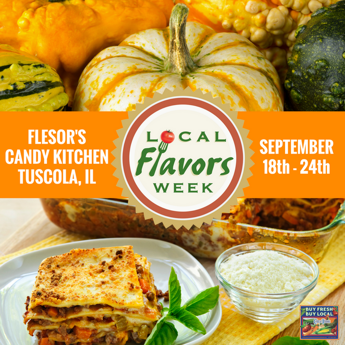 Local Flavors Week at Flesor's Candy Kitchen, September 18th -24th
