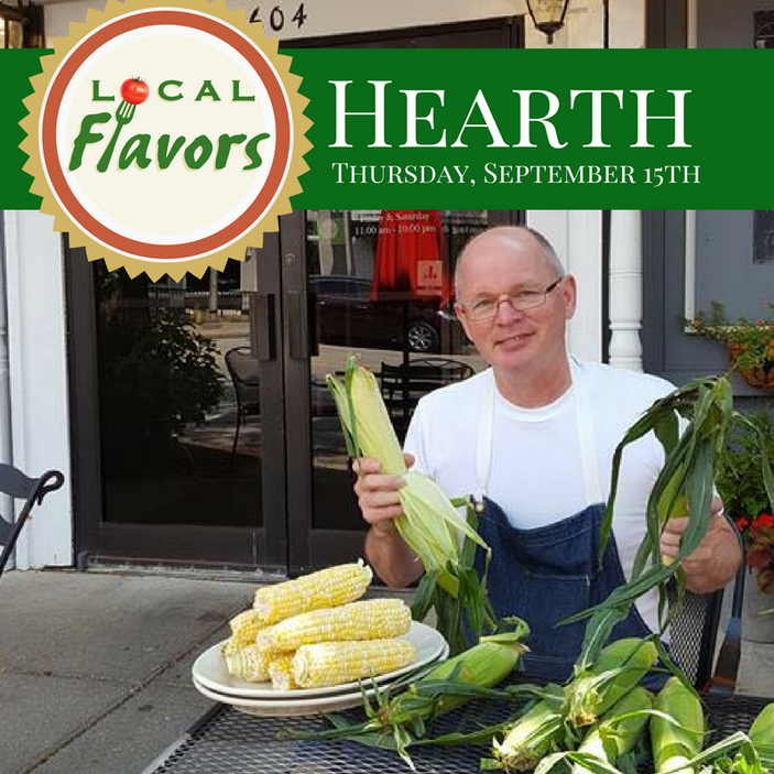 Local Flavors Dinner at Hearth, Peoria Heights, September 15th