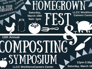 Homegrown Fest: Local Food and Urban Ag Workshops & Composting Symposium- March 19, 2016