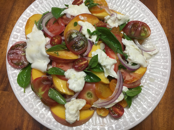 Heirloom Tomato & Peach Caprese
