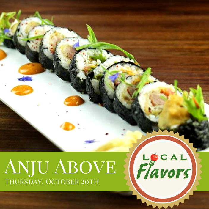Local Flavors at Anju Above in Bloomington, October 20th