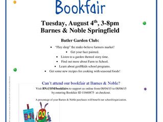 Butler Elementary School Bookfair at Barnes & Noble to Promote Gardening, Healthy Eating and Phy