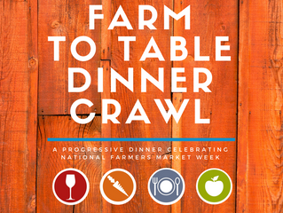 A Progressive Dinner on August 8th to Feature Local Fare in Celebration of National Farmers Market W