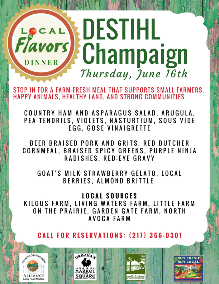 Local Flavors at DESTIHL Champaign, June 16th