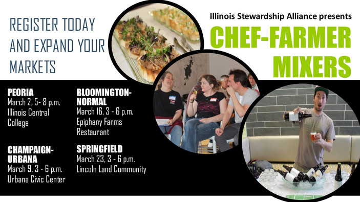 Register Today for our Chef-Farmer Mixers!
