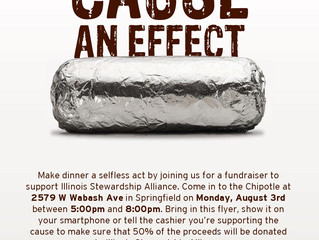 Eat at Chipotle on Monday, August 3rd and Support Illinois Stewardship Alliance