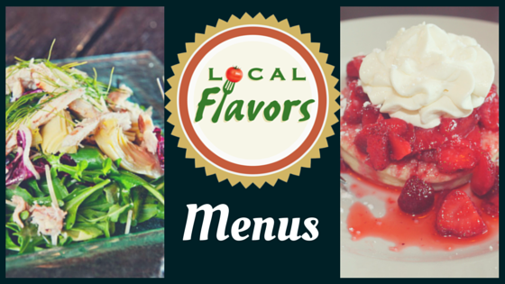 Local Flavors Menus for September 3rd!