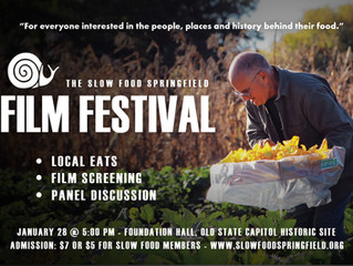 Slow Food Springfield Film Festival January 28, 2017