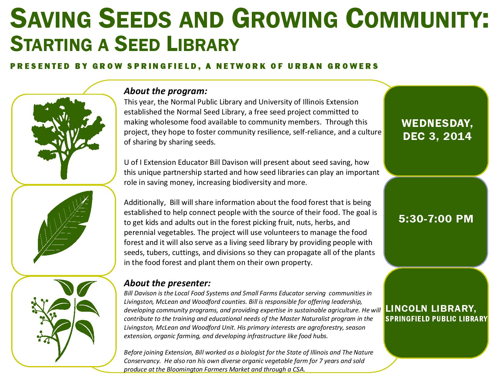 Saving Seeds and Growing Community: Starting a Seed Library