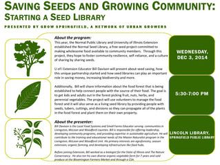 """Saving Seeds and Growing Community: Starting a Seed Library"""