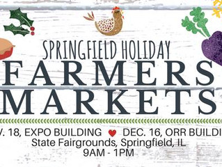 Indoor Farmers Market, Dec 16, 9am