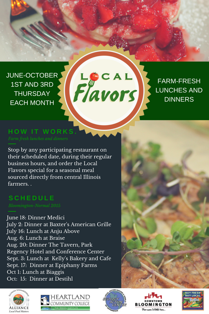Local Flavors Schedule Set for Bloomington-Normal!