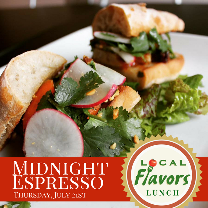 Local Flavors lunch at Midnight Espresso in Peoria, July 21st