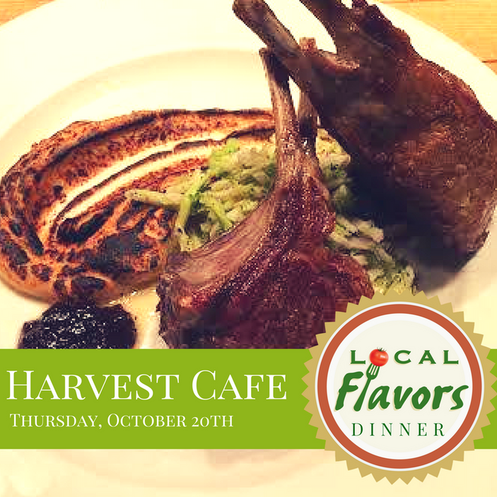 Local Flavors Dinner at Harvest Cafe in Delavan, October 20th