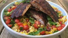 September Seasonal Succotash and BBQ Ribs