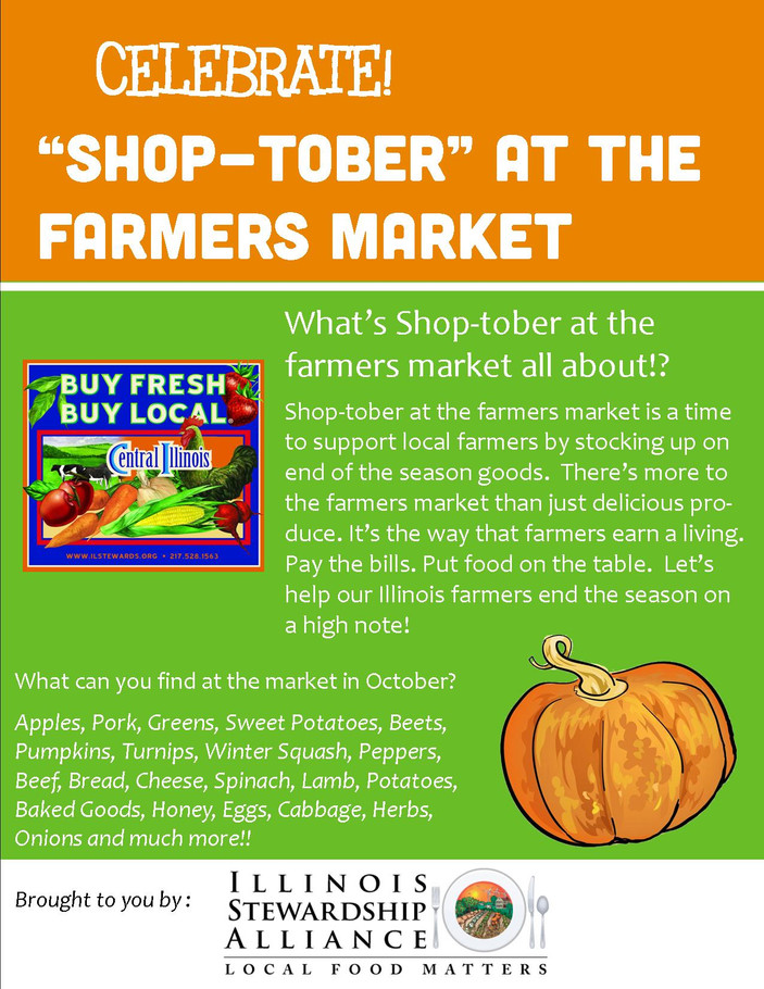 "Celebrate ""Shop-tober"" at the Farmers Market"