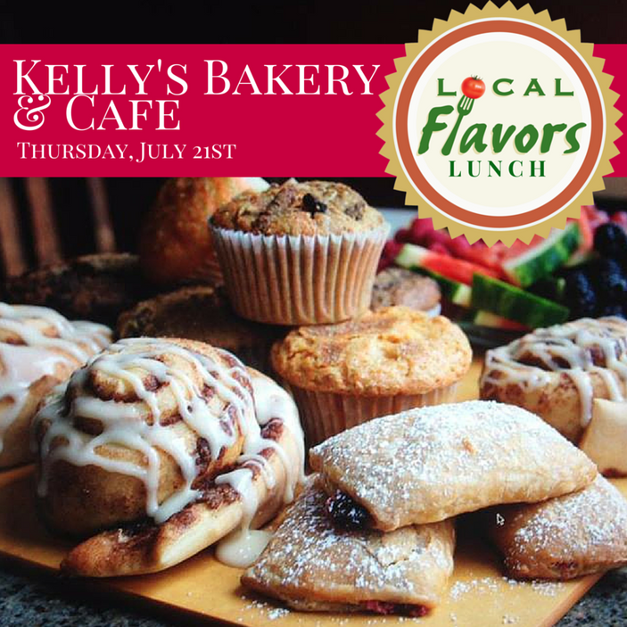 Local Flavors at Kelly's Bakery and Cafe in Bloomington, July 21st