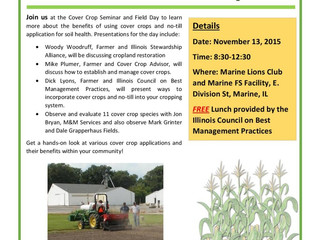 Cover Crop Seminar and Field Day  November 13, 8:30am-12:30pm