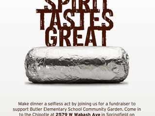 Eat at Chipotle and Support the Butler Elementary School Community Garden!