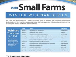 Winter Webinars, Thursdays, Jan 18-Mar 29