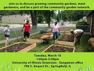 March Meeting to Discuss Growing Community Gardens