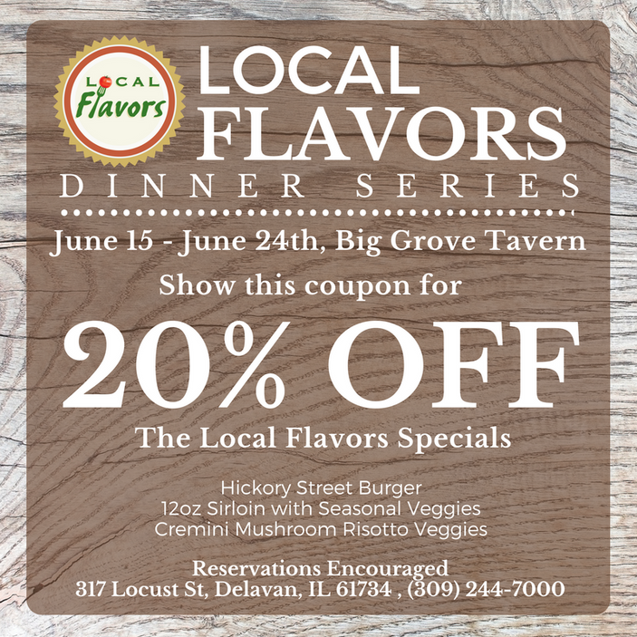 Local Flavors Kicks off June 15th! Find a Restaurant Near YOU!