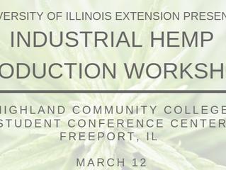 Industrial Hemp Production Workshop, March 12, 2019