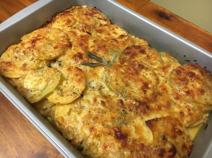 Sunchoke and Potato Gratin
