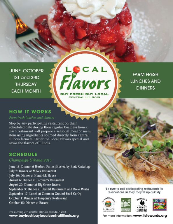Local Flavors Events Set for Champaign-Urbana!
