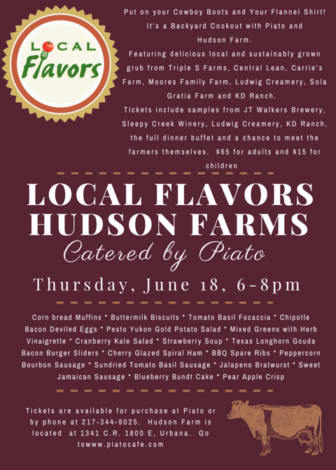 Get Your Tickets for Local Flavors at Hudson Farms on June 18th!