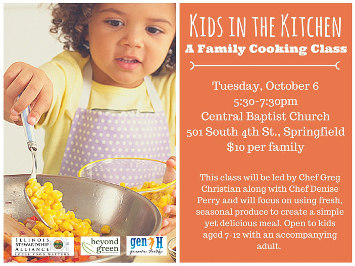 Kids in the Kitchen: A Family Cooking Class, October 6th