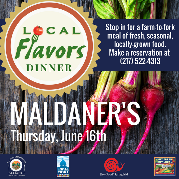 Local Flavors at Maldaner's, June 16th
