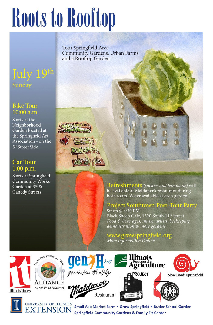 Roots to Rooftop Tour Puts Community Gardens, Urban Farm on Display