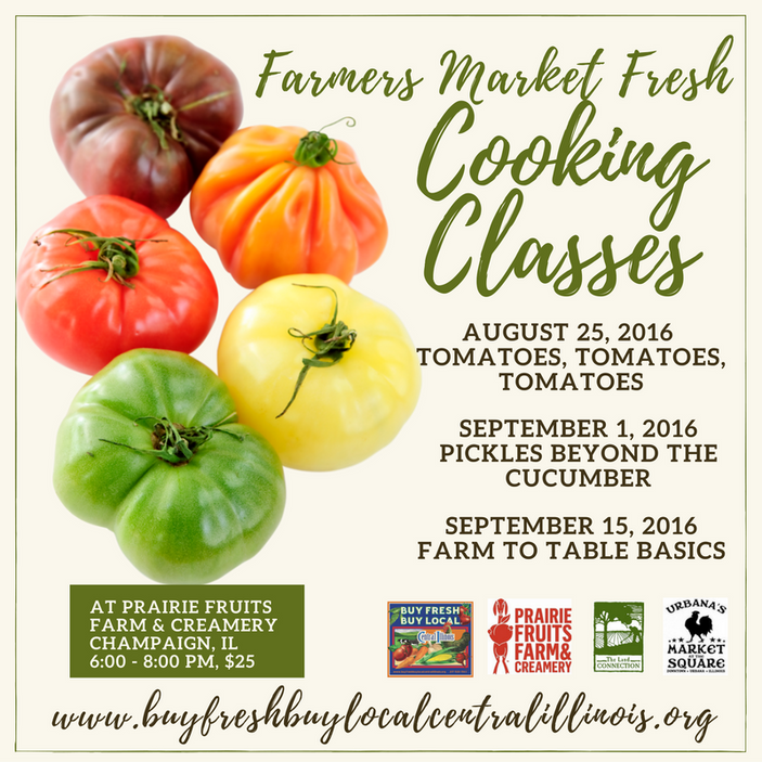 Farmers Market Fresh Cooking Classes at Prairie Fruits Farm and Creamery