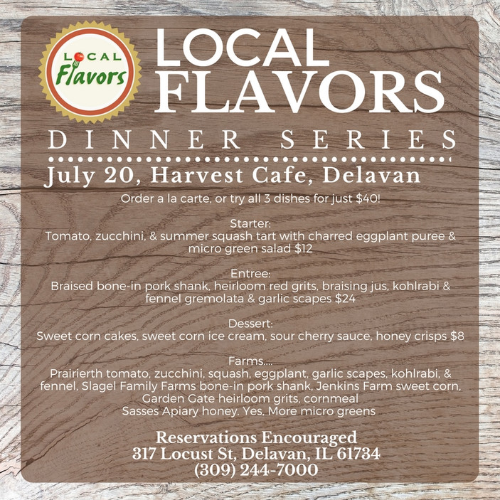 Local Flavors Rolls On! Check out 4 Amazing Farm-to-Table Restaurants on July 20th