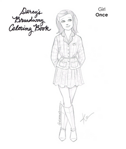 Girl Once Coloring Book Page
