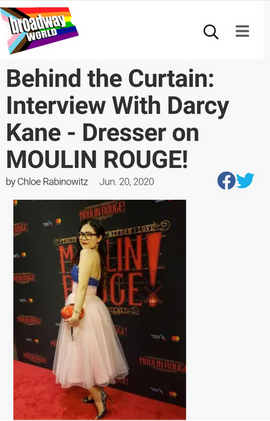 Behind the Curtain: Interview With Darcy Kane - Dresser on MOULIN ROUGE!