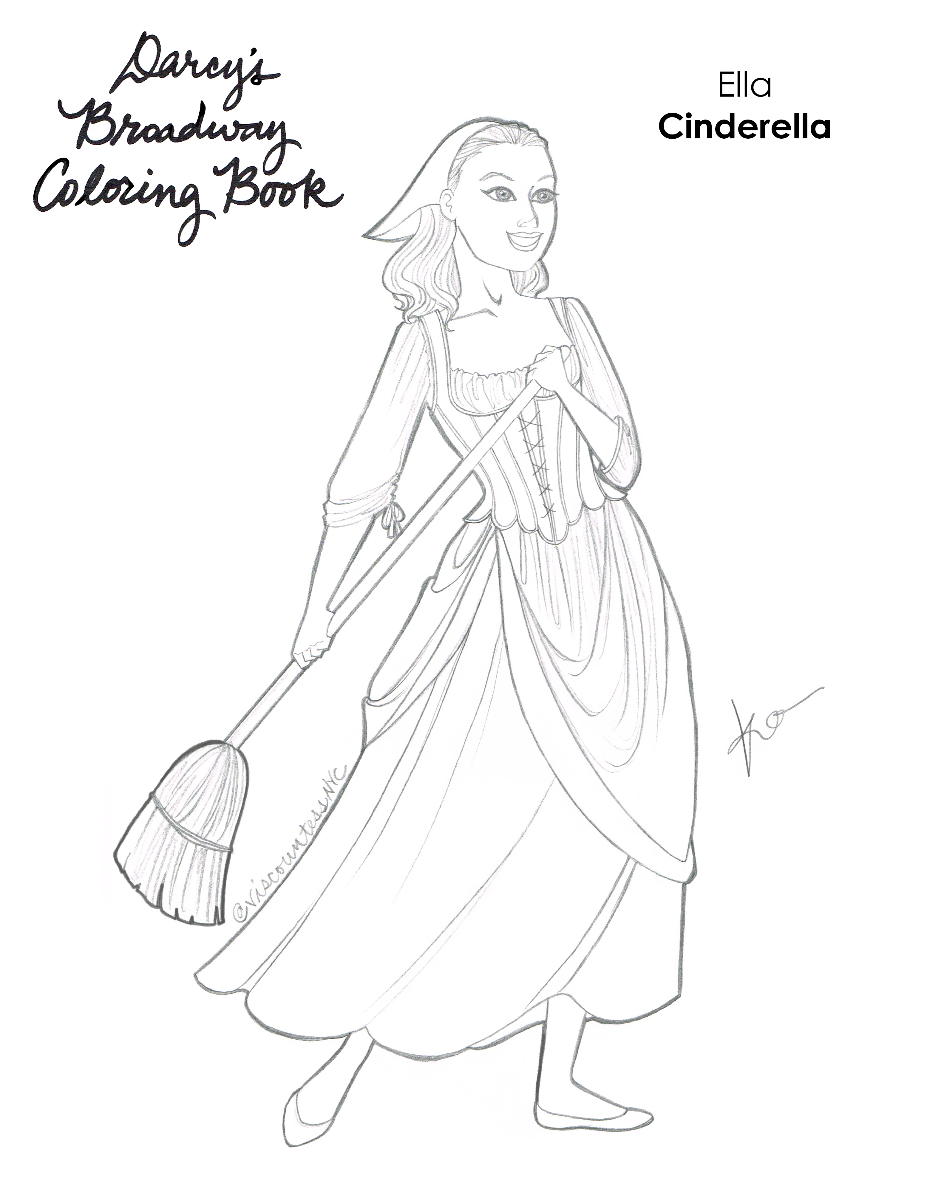 Cinderella Coloring Book Page
