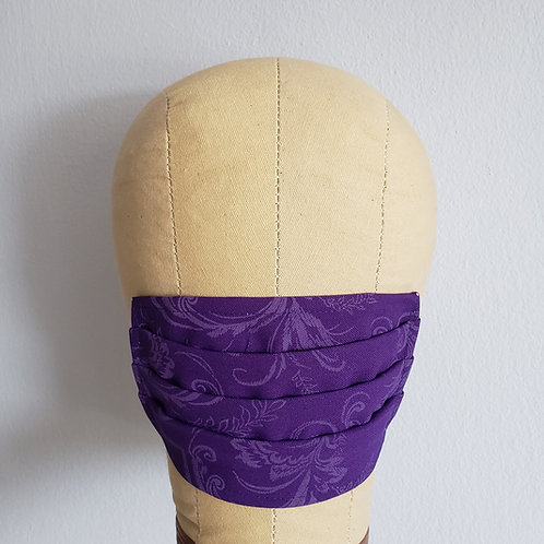 Purple Scrollwork Facemask