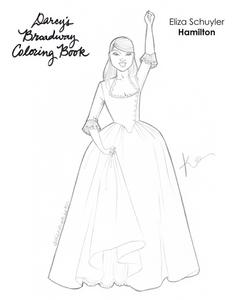 Eliza Schuyler Coloring Book Page