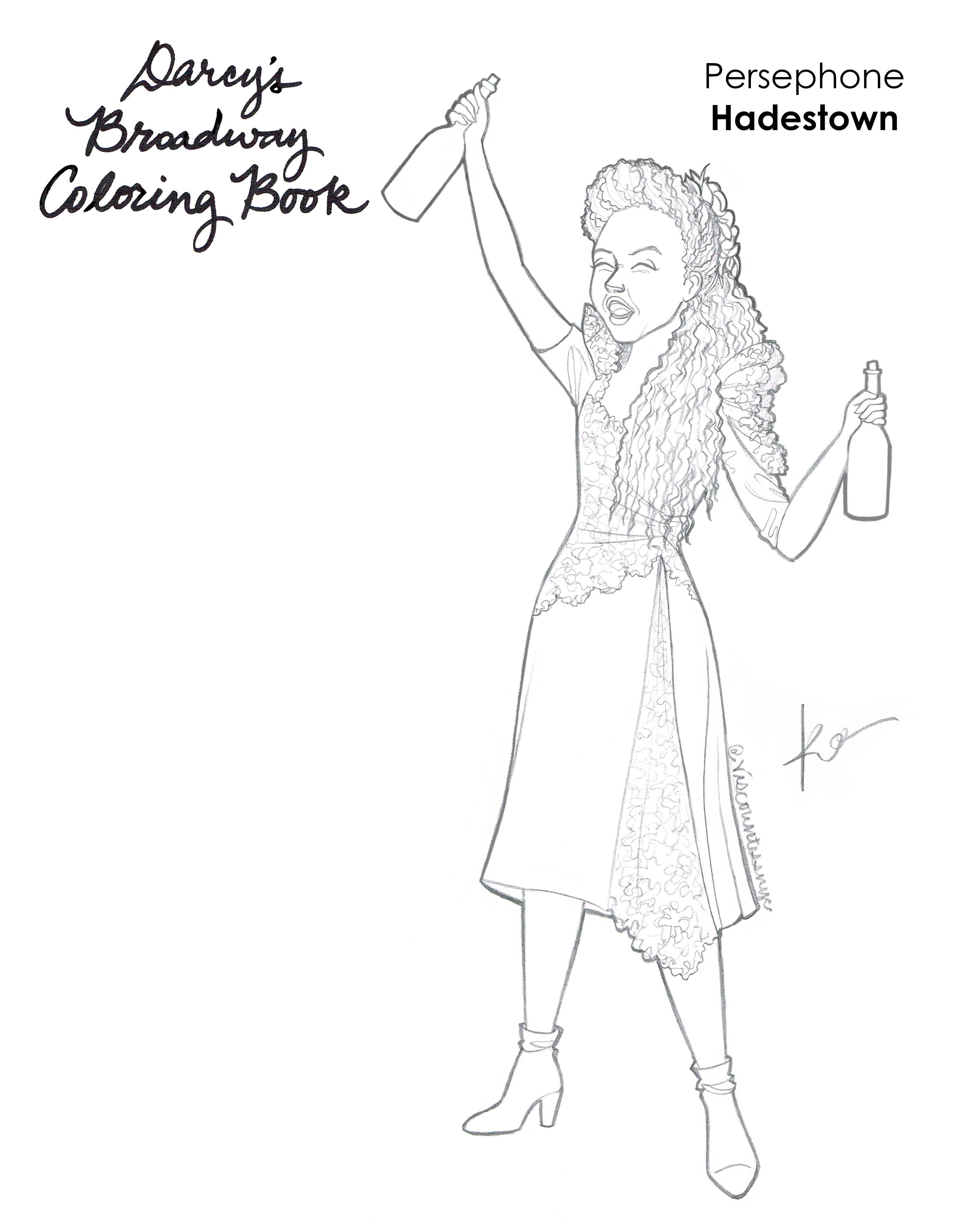 Persephone Coloring Book Edit