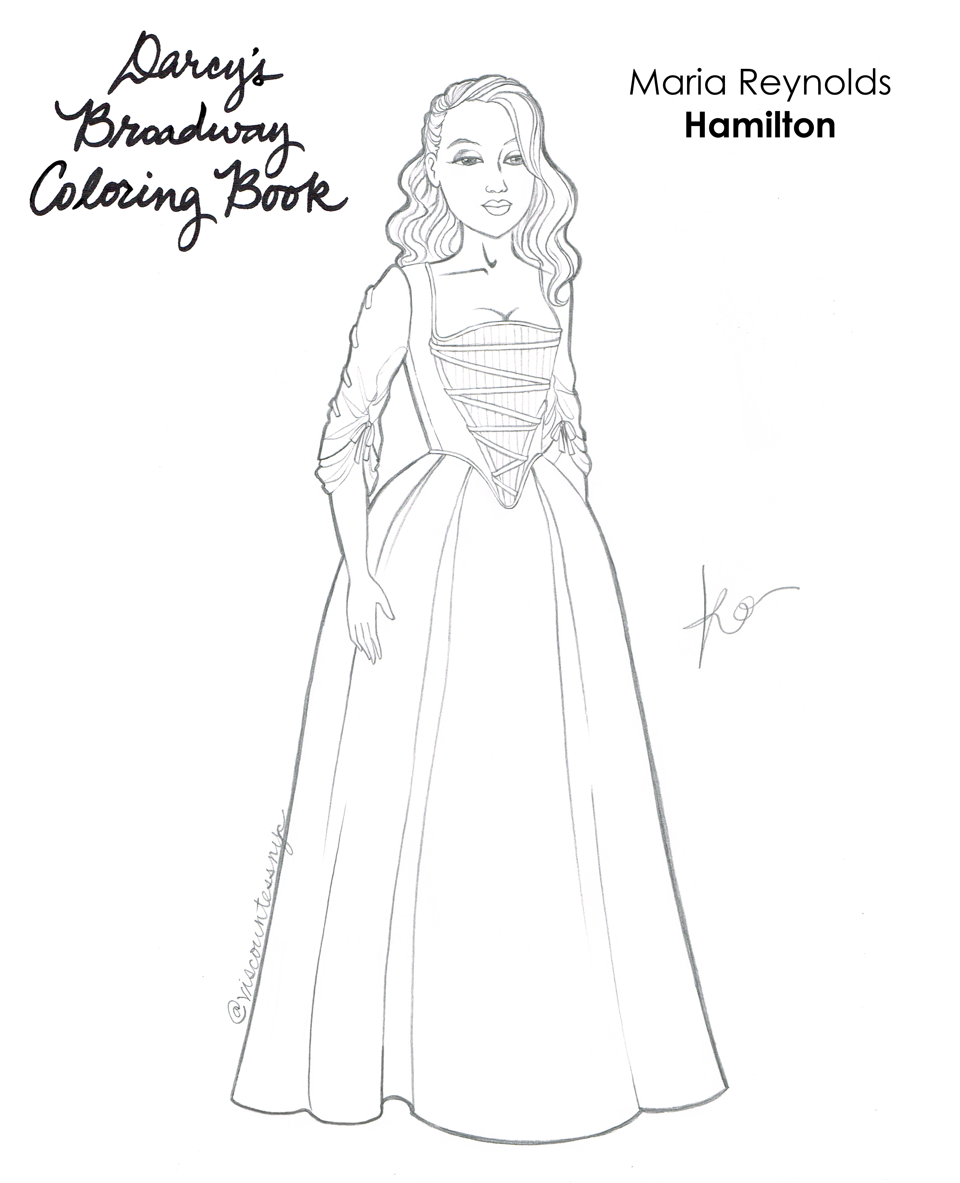 Maria Reynolds Coloring Book Page