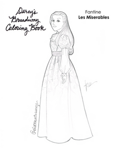 Fantine Coloring Book Page