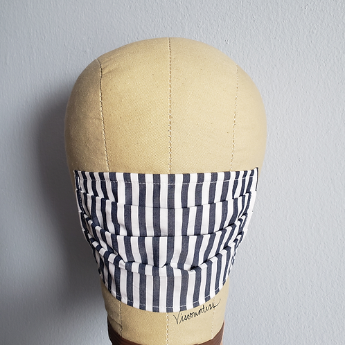 Striped Cotton Facemask