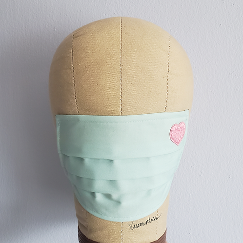 Heart Full of Love Facemask (Soft Mint)