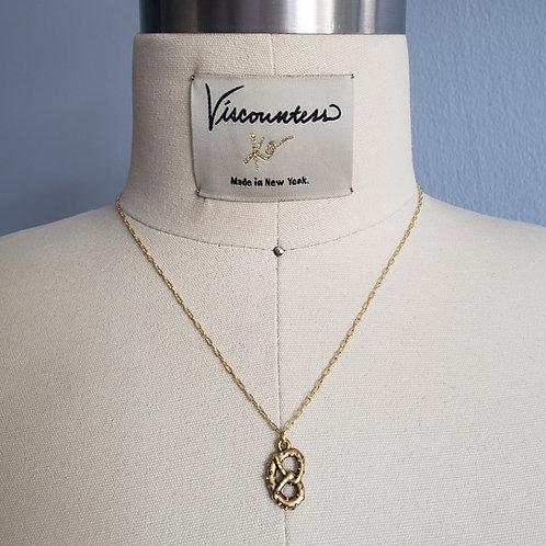 Gold Pretzel Necklace