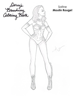 Satine Coloring Book Page