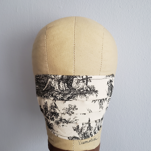 Toile Facemask, Back in Black!