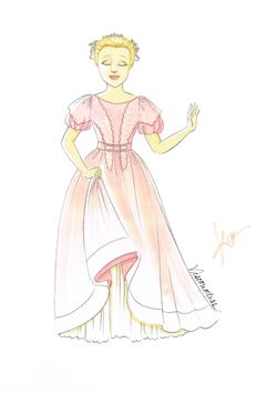 Cosette Movie Wedding Dress Art W